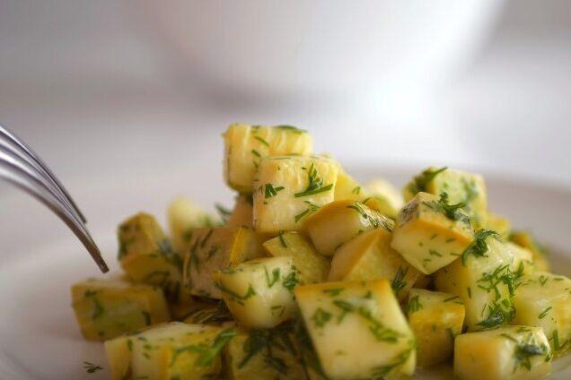 Маринованные кабачки с растительным маслом