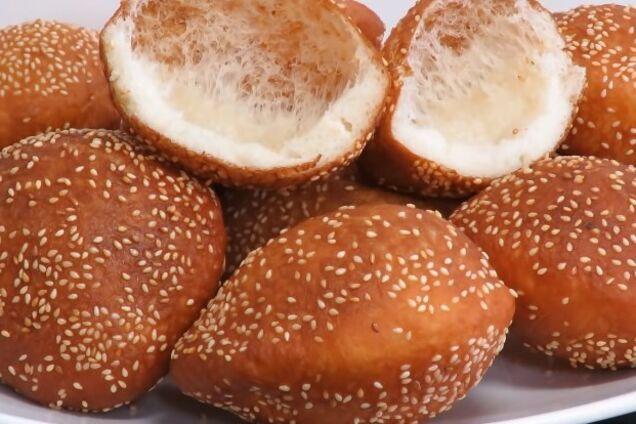 Пончики с кунжутом