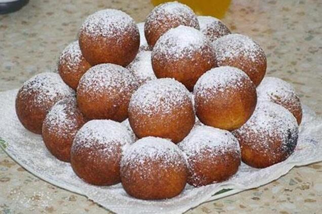 Сирні пончики із содою