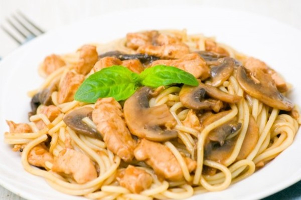 Спагеті з грибами
