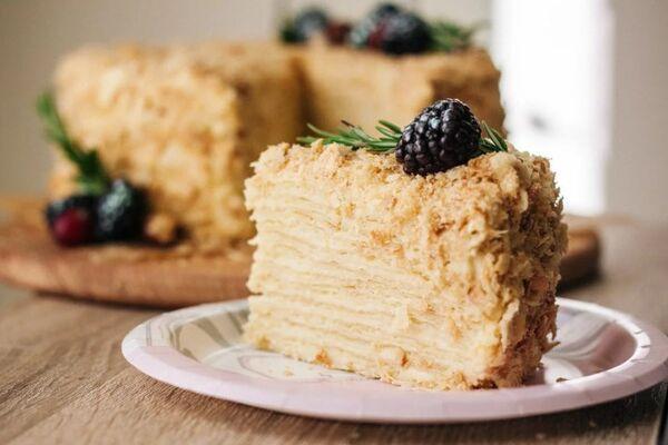 Торт ''Наполеон'' с крахмалом