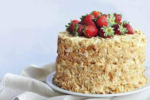 Торт ''Наполеон'' со сгущенкой