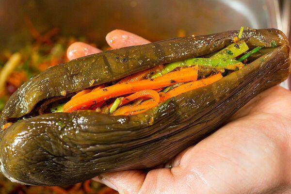 Квашеные баклажаны по-корейски