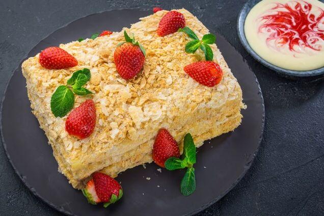 Торт ''Наполеон'' с заварным кремом