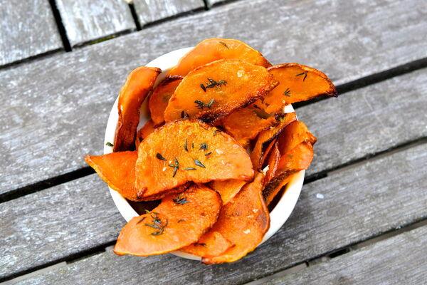 Морквяні чіпси