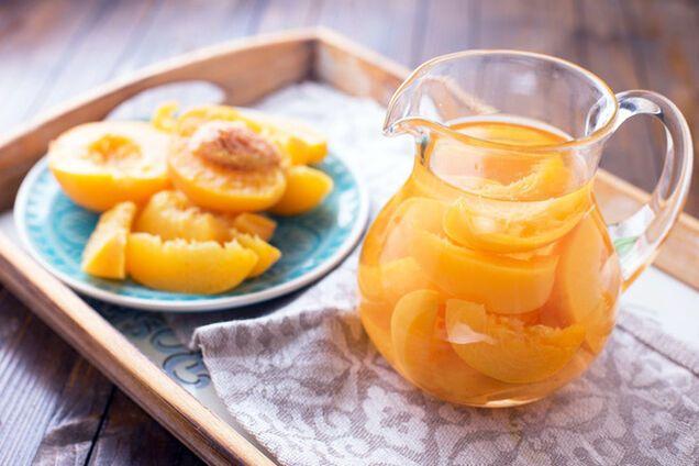 Компот із персиків