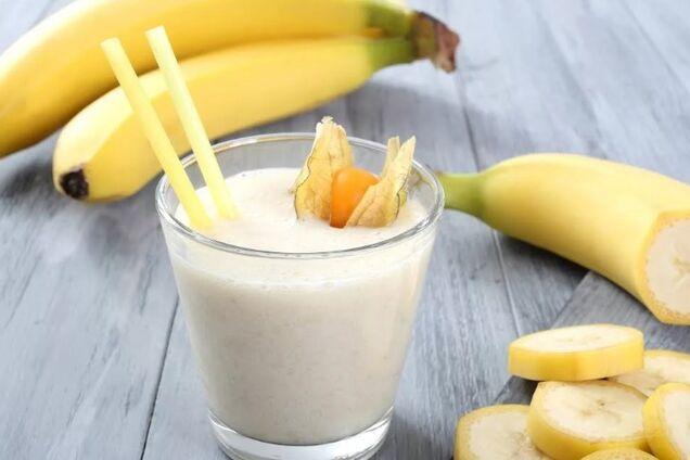 Молочний коктейль з бананом