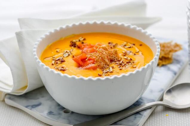 Суп з гарбузом