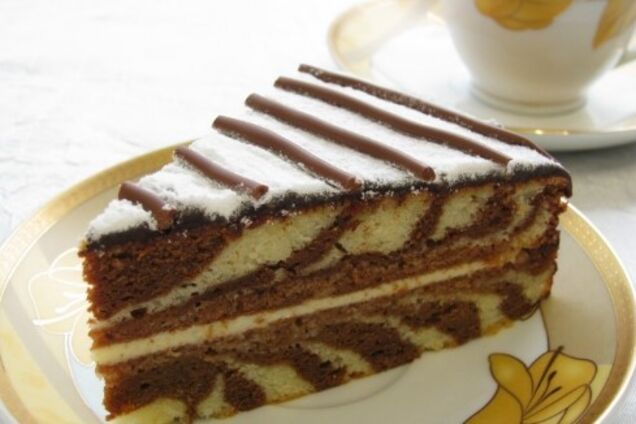 Торт ''Зебра'' с кремом