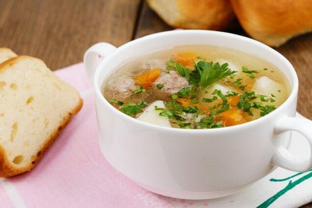 Суп з курячим фаршем