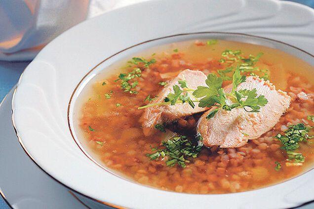 Курячий суп з гречкою