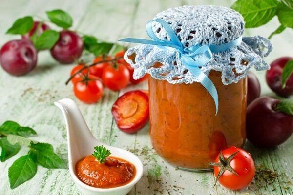 Соус из слив и помидоров