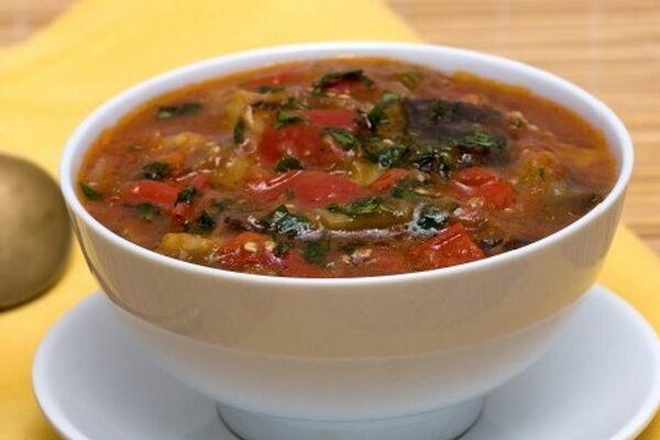 Суп с баклажанами