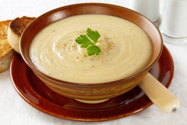 Суп-пюре з цвітної капусти