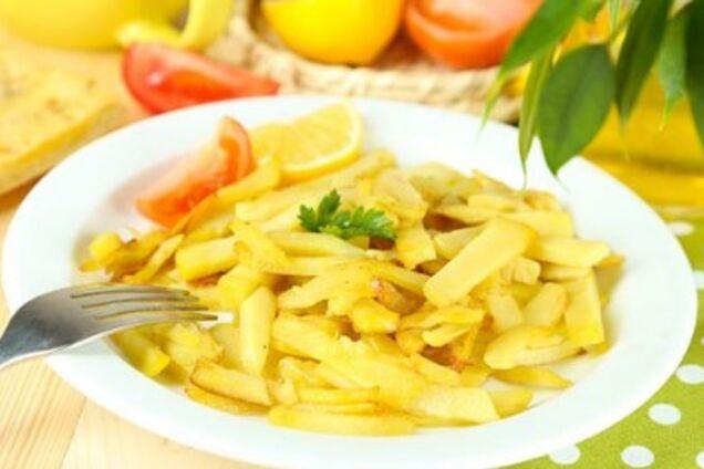 Смажена картопля з цибулею