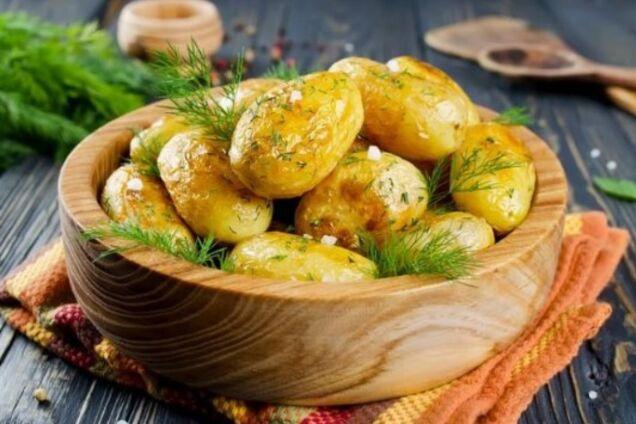 Картофель в рукаве