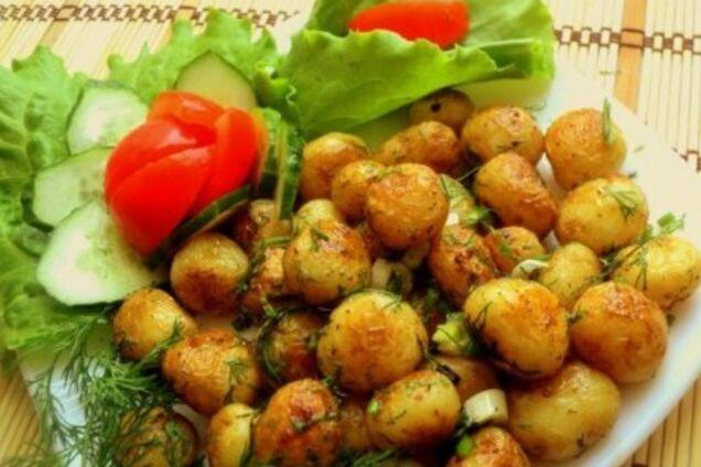 Молодая жареная картошка