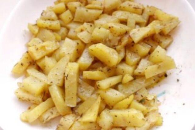 Жареная картошка в микроволновке