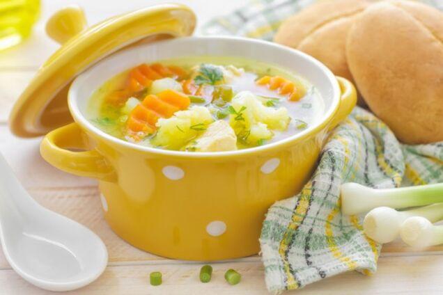 Овочевий суп з цвітною капустою