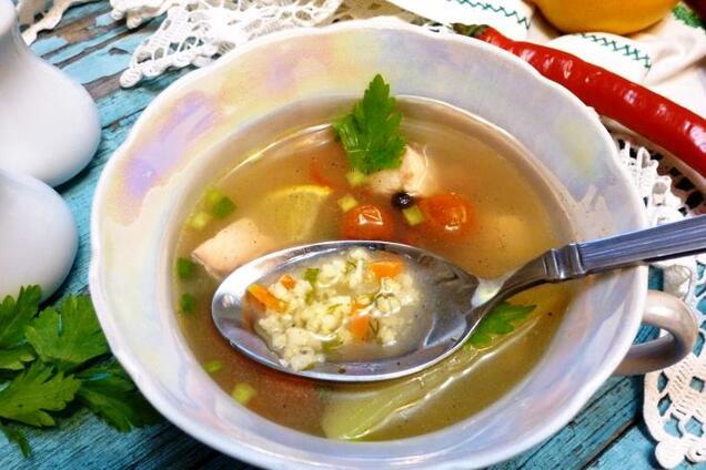 Суп з пшоном