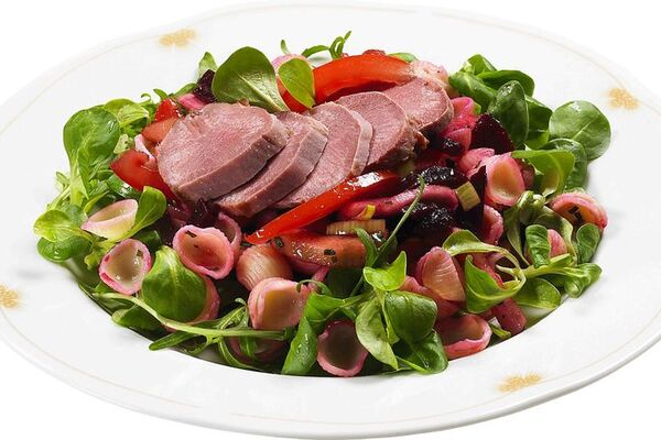 Салат з язиком без майонезу