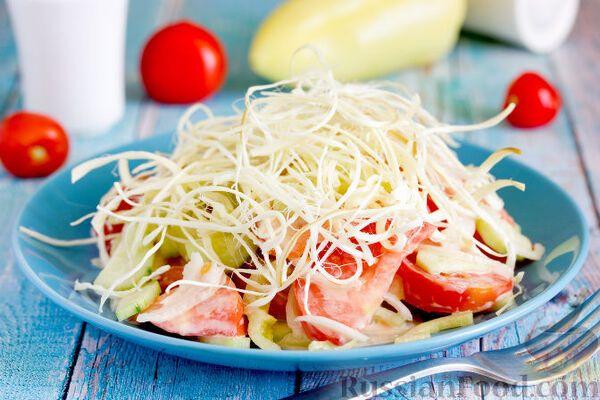 Салат з сиром ''Косичка''