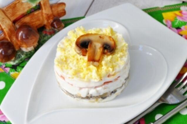 Салат зі смаженими грибами