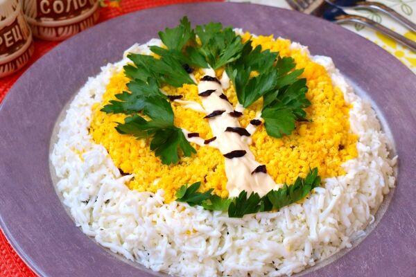 Салат з чорносливом ''Береза''