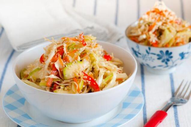 Пісний салат з овочами