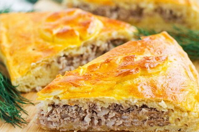 М'ясний пиріг на кефірі