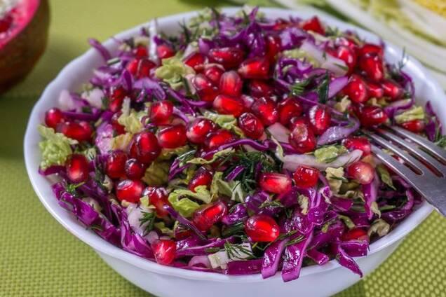 Салат з гранатом без майонезу
