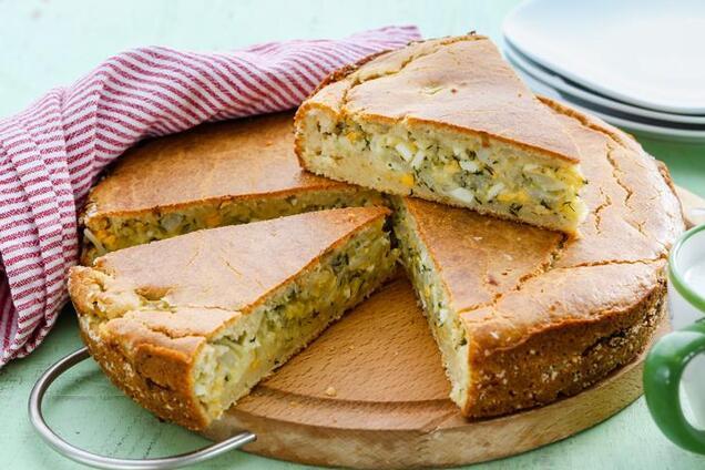 Капустяний пиріг на кефірі