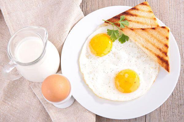 Яичница с молоком