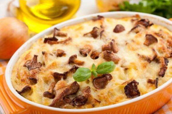 Картошка с сыром и грибами