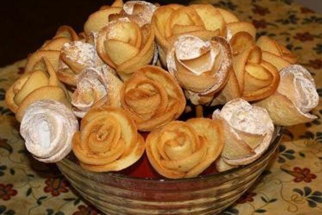 Печенье ''Розочки'' на соломке