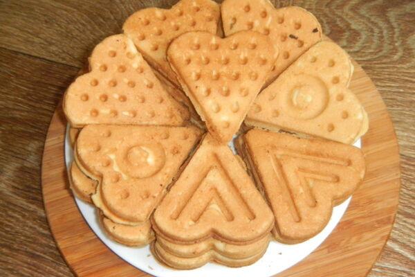 Печенье в формочке на газу