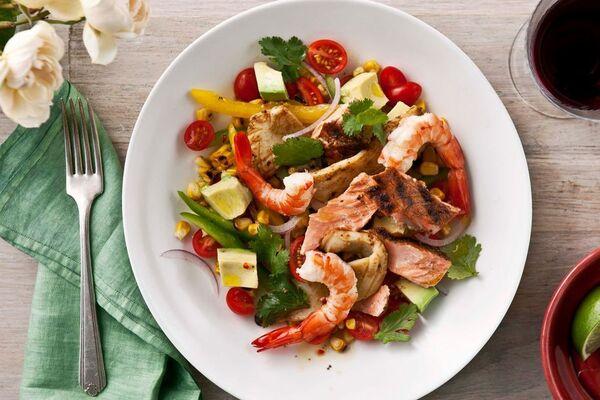 Салат з морепродуктами без майонезу