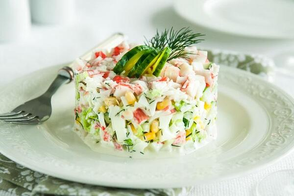 Крабовий салат з рисом