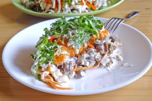 Новорічний салат без майонезу