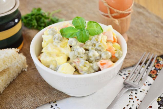 Салат із горошком