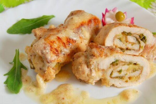 Крученики из куриного филе с сыром