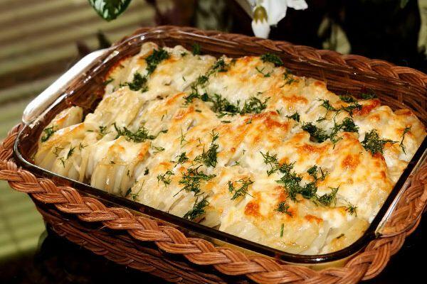 Мясо по-французски в духовке с картошкой