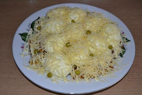 Салат ''Кучугури'' із сиром
