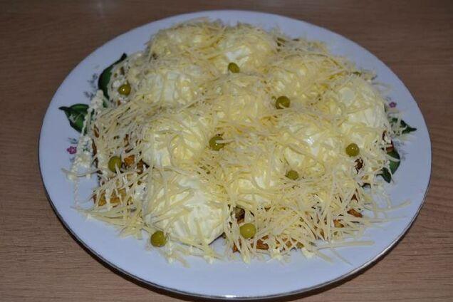 Салат ''Сугробы'' с сыром