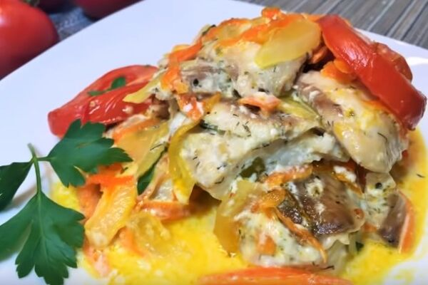 Філе риби з овочами