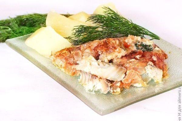 Рыба с картошкой под майонезом в духовке