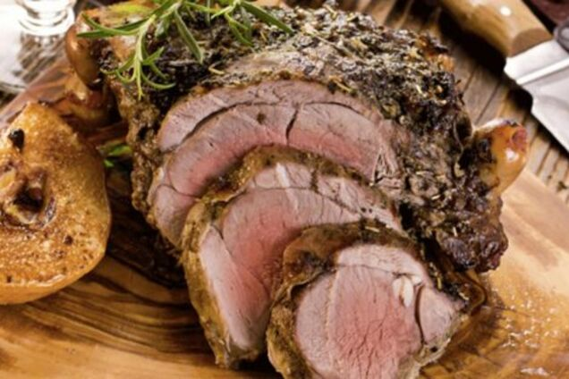 Жареное мясо с травами