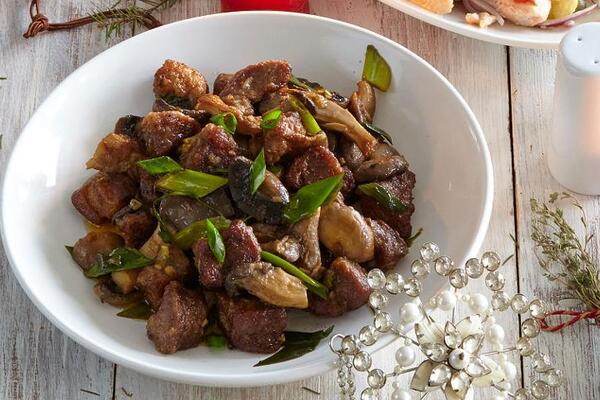 Жареное мясо в духовке