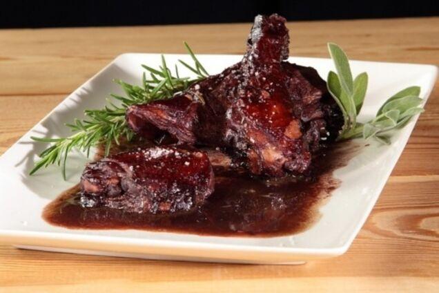 Жареное мясо в вине
