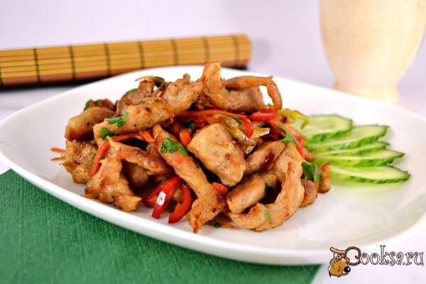 Жареное мясо с овощами по-китайски